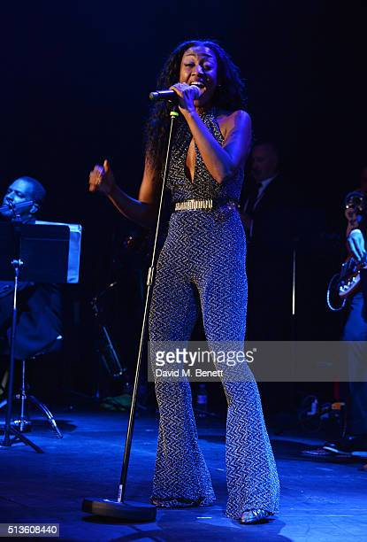 Beverley Knight performs at 'A Night Of Motown' for Save The Children UK at The Roundhouse on March 3 2016 in London England