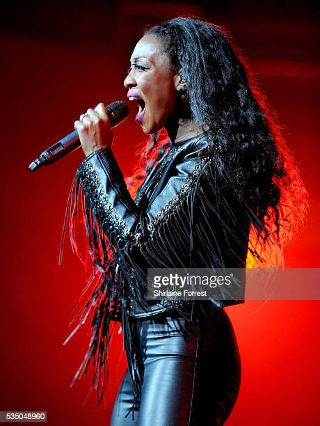 Beverley Knight performs at Bridgewater Hall on May 28 2016 in Manchester England