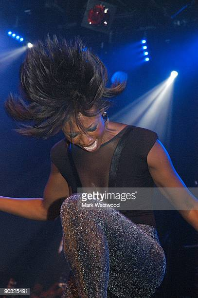 Beverley Knight performs at the launch of her new album ''100 Percent'' at the Institute Of Contemporary Arts on September 3 2009 in London England