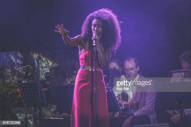 Beverley Knight performs during Andrew Lloyd Webber A Musical Celebration as part of his 70th Birthday celebration at The Royal Hospital Chelsea on...
