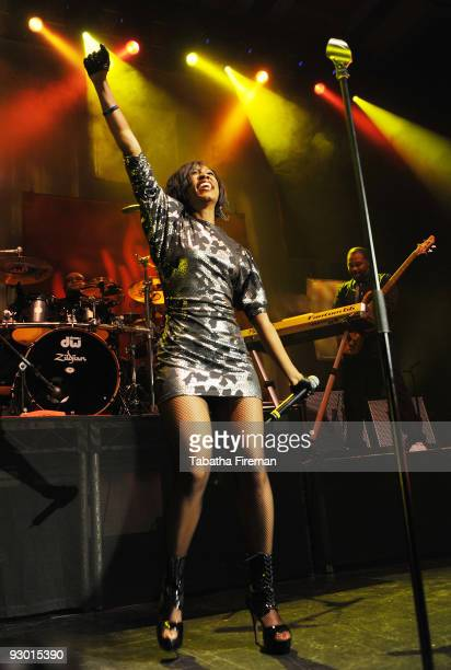 Beverley Knight performs on stage at the Dome on November 12 2009 in Brighton England