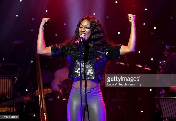 Beverley Knight performs on stage during The Magic of Christmas at London Palladium on November 27 2016 in London England
