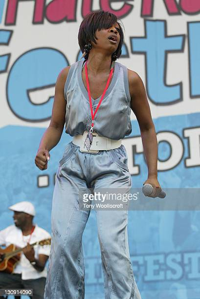 Beverley Knight preforms at 'The Love Music Hate Racism Festival' at Britannia Stadium on May 30, 2009 in Stoke on Trent, England.