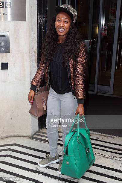 Beverley Knight seen leaving the BBC Radio 2 Studios on June 10, 2016 in London, England.