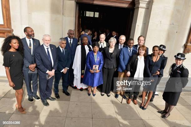 Beverley Knight Sir Lenny Henry Labour Party Leader Jeremy Corbyn Mayor of London Sadiq Khan Neville Lawrence Doreen Lawrence Baroness Lawrence of...