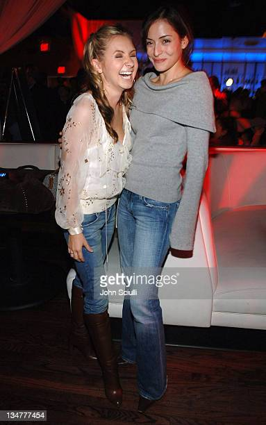 Beverley Mitchell and Emmanuelle Vaugier during Saw II Cast and Crew Screening After Party at Level 3 in Hollywood California United States
