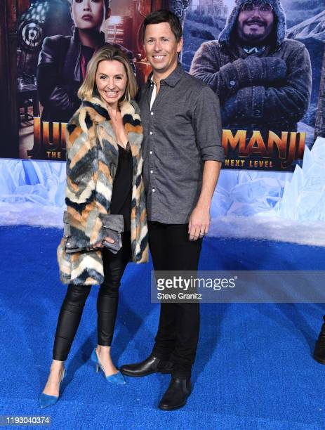 Beverley Mitchell and Michael Cameron arrives at the Premiere Of Sony Pictures' Jumanji The Next Level on December 09 2019 in Hollywood California