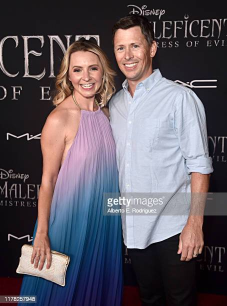 Beverley Mitchell and Michael Cameron attend the World Premiere of Disney's Maleficent Mistress of Evil at the El Capitan Theatre on September 30...