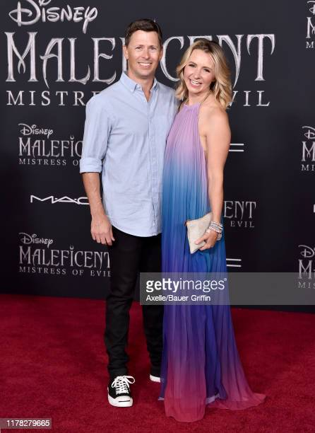 "Beverley Mitchell and Michael Cameron attend the World Premiere of Disney's ""Maleficent Mistress of Evil at El Capitan Theatre on September 30 2019..."