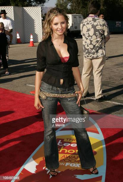 Beverley Mitchell during The 2004 Teen Choice Awards Arrivals at Universal Amphitheatre in Universal City California United States