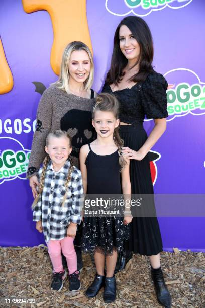 Beverley Mitchell Erin Ziering Kenzie Cameron and Penna Ziering attend the GoGo squeeZ GoGoWeen Halloween Launch Event on October 07 2019 in Los...
