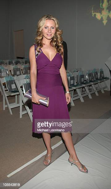 Beverley Mitchell front row at Tracy Reese Spring 2006