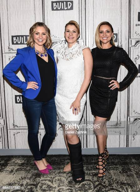 Beverley Mitchell Jodie Sweetin and Christine Lakin attend the Build Series to discuss the Pop TV show 'Hollywood Darlings' at Build Studio on April...