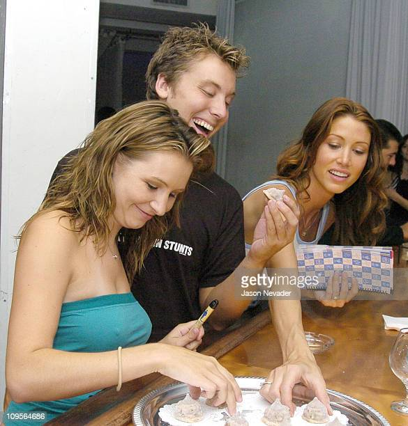 Beverley Mitchell Lance Bass of *NSYNC and Shannon Elizabeth