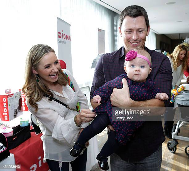 Beverley Mitchell Michael Cameron and their daughter Kenzie attend the 3rd Annual Santa's Secret Workshop Benefiting LA Family Housing at Andaz Hotel...