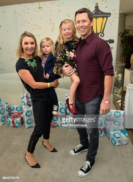 Beverley Mitchell Michael Cameron and their family at the 7th Annual Santa's Secret Workshop benefiting LA Family Housing at Andaz on December 2 2017...