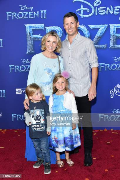 Beverley Mitchell Michael Cameron Hutton Michael Cameron and Kenzie Cameron attend the premiere of Disney's Frozen 2 at Dolby Theatre on November 07...