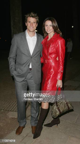 Beverley Turner and James Cracknell arrives at the First Direct 50 Women of Substance Exhibition at the Mall Galleries on February 26, 2008 in...
