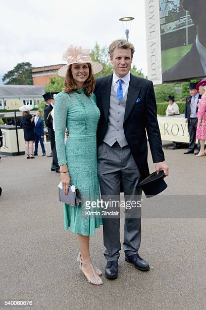 Beverley Turner and James Cracknell attend Day 1 of Royal Ascot at Ascot Racecourse on June 14 2016 in Ascot England
