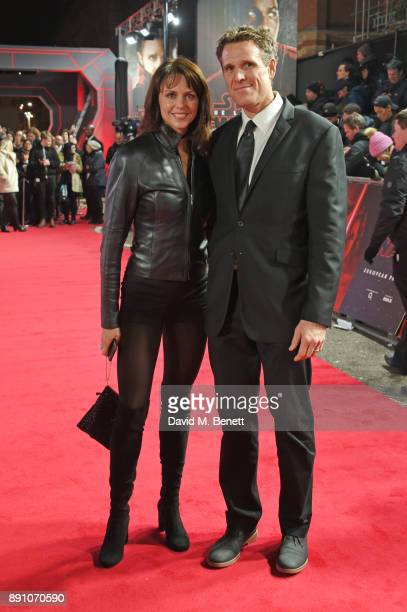 Beverley Turner and James Cracknell attend the European Premiere of Star Wars The Last Jedi at the Royal Albert Hall on December 12 2017 in London...
