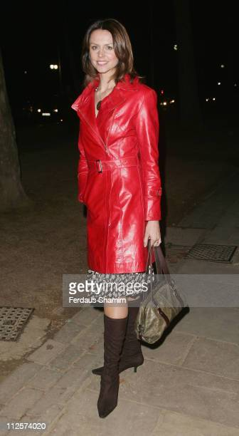 Beverley Turner arrives at the First Direct 50 Women of Substance Exhibition at the Mall Galleries on February 26, 2008 in London, England.
