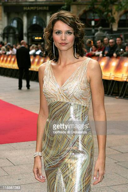 """Beverley Turner during """"Goal!"""" London Premiere - Arrivals at Odeon Leicester Square in London, Great Britain."""