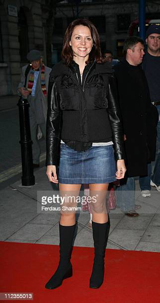 """Beverley Turner during """"The Snowman"""" VIP Press Night - Outside Arrivals at The Peacock Theatre in London, Great Britain."""