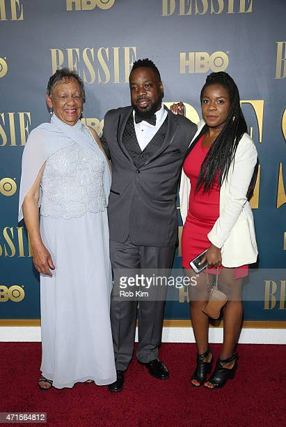 Beverly Ann Clarke granddaughter of Bessie Smith and family attend the 'Bessie' New York screening at The Museum of Modern Art on April 29 2015 in...