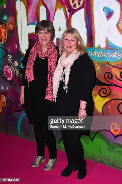 Beverly Baxter and Sally Bentley attend the 50th Anniversary of 'Hair The Musical' gala night at The Vaults on October 17 2017 in London England