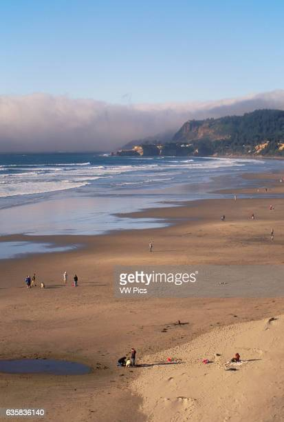 Beverly Beach State Park and view north to Otter Rock on the central Oregon coast