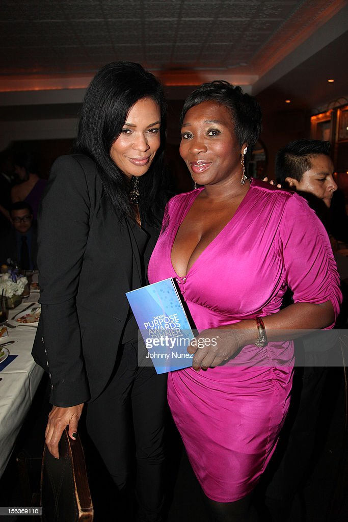 Beverly Bond and Bevy Smith attend the 2012 EGAMI Consulting Group Purpose Awards at Beauty & Essex on November 13, 2012 in New York City.