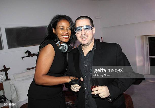 DJ Beverly Bond and Noah G Pop attend the Hennessy Black Fashion Week Finale party at Ramscale Loft Studios on September 18 2009 in New York City