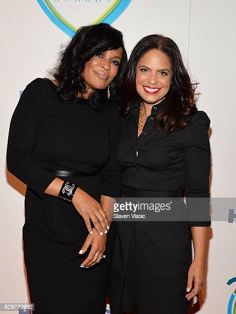 Beverly Bond and Soledad O'Brien attend 15th Annual Women Who Care Awards Luncheon at Cipriani 42nd Street on May 9 2016 in New York City