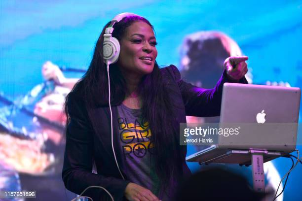 Beverly Bond performs at the World Of BET during the BET Experience Fan Fest at Los Angeles Convention Center on June 22 2019 in Los Angeles...