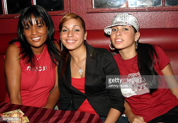 DJ Beverly Bond with Natalie Albino and Nicole Albino of Nina Sky