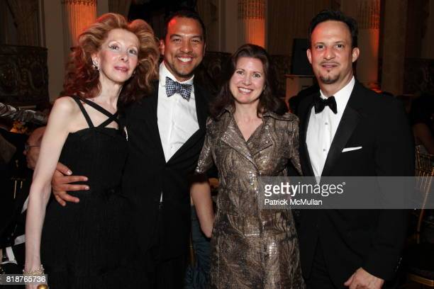 Beverly D'Anne Eduardo Vilaro and Ben RodriguezCubenas attend BALLET HISPANICO'S 40th Anniversary Spring Gala at The Plaza on April 19 2010 in New...