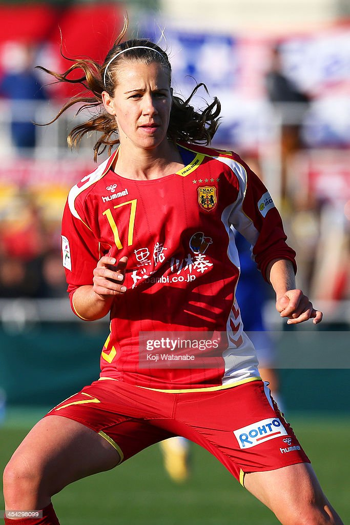 Beverly Goevel-Yanez of INAC Kobe Leonessa in action during the International Women's Club Championship final match between Chelsea Ladies and INAC Kobe Leonessa at Ajinomoto Field Nishigaoka on December 8, 2013 in Tokyo, Japan.