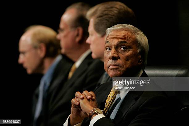 Beverly Hills Angelo Mozilo Chairman and CEO Countrywide Financial Corp listens to a question from the moderator A panel discussion entitled Subprime...