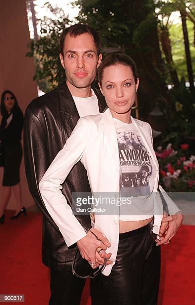Beverly Hills CA Angelina Jolie and brother attend the Fifth Annual Broadcast Film Critics Association Critics'' Choice Awards Luncheon Ceremony...