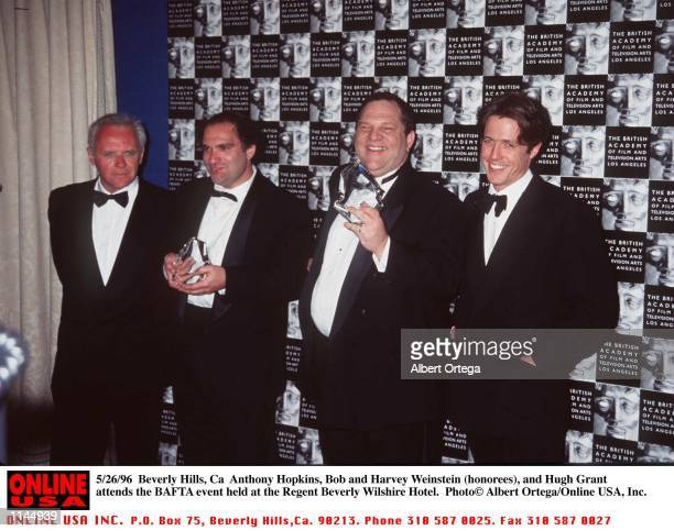 Beverly Hills Ca Anthony Hopkins Bob and Harvey Weinstein and Hugh Grant at the BAFTA event held at the Regents Beverly Hotel