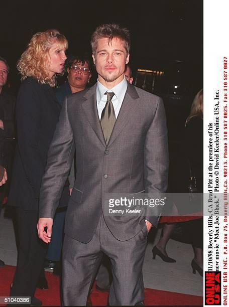 Beverly Hills Ca Brad Pitt At The Premiere Of 'Meet Joe Black'