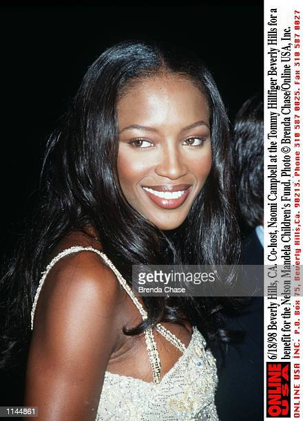 Beverly Hills CA Cohost Naomi Campbell at the Tommy Hillfiger Beverly Hills for a benefit for the Nelson Mandela Children's Fund The supermodel...