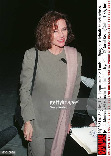 Beverly Hills Ca Jacqueline Bisset Outside Spago To Celebrate French Actress Jeanne Moreau's 50 Years In The Film Industry