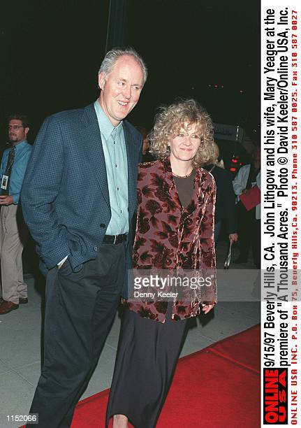 Beverly Hills CA John Lithgow and his wife Mary Yeager at the premiere of A Thousand Acres