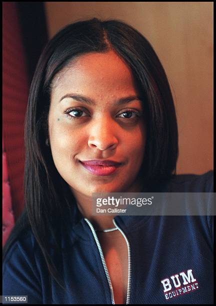 09/28/99 Beverly Hills CA Laila Ali announces her entrance into the Boxing ring at the Planet Hollywood Restaurant in Beverly Hills Picture by DAN...