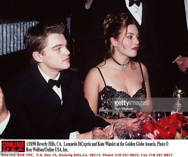 Beverly Hills Ca Leonardo Dicaprio And Kate Winslet At The Golden Globe Awards Held At The Beverly Hilton