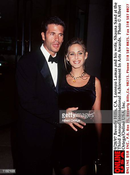 Beverly Hills CA Lorenzo Lamas and his wife Shauna Sand at the Third Annual International Achievement In Arts Awards