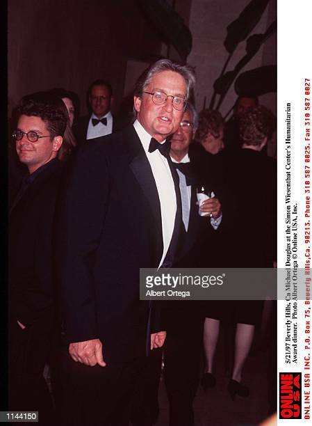 Beverly Hills Ca Michael Douglas at the Simon Wiesenthal Center's Humanitarian Award dinner