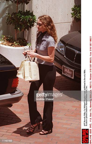 Beverly Hills Ca Michael Douglas's new girlfriend Dominique at the Peninsula Hotel Exclusive photo