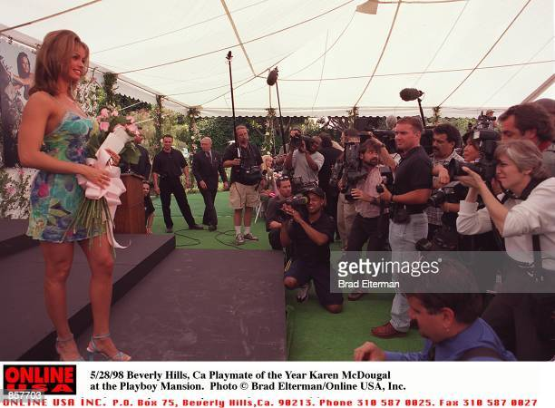 Beverly Hills, Ca Playmate of the Year Karen McDougal at the Playboy Mansion.
